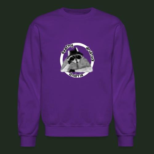 Apathy Raccoon - Unisex Crewneck Sweatshirt