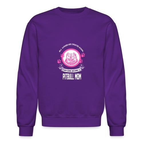 pitbullmom - Crewneck Sweatshirt