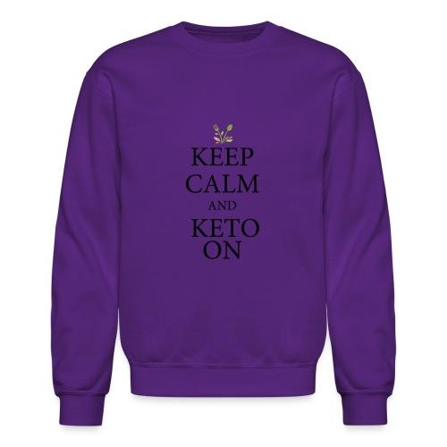 Keto keep calm - Crewneck Sweatshirt