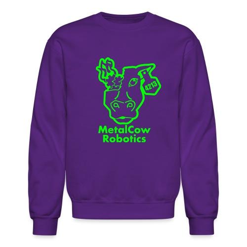 MetalCowLogo GreenOutline - Unisex Crewneck Sweatshirt
