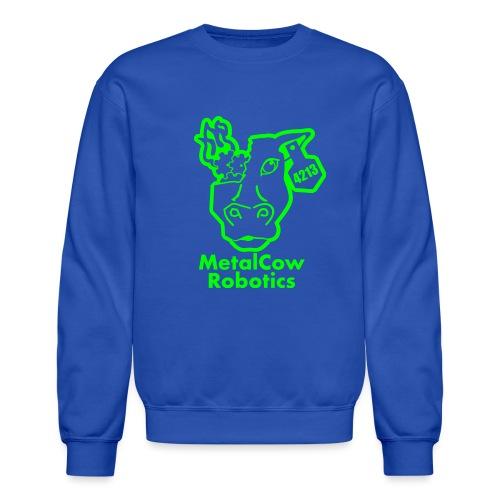 MetalCowLogo GreenOutline - Crewneck Sweatshirt
