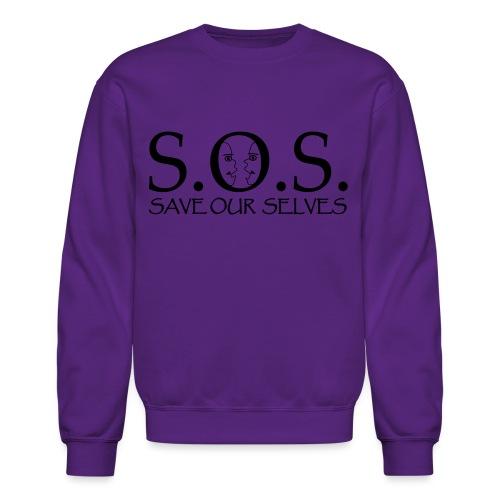 SOS Black on Black - Unisex Crewneck Sweatshirt