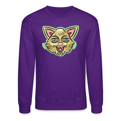 Happy Cat Gold - Unisex Crewneck Sweatshirt