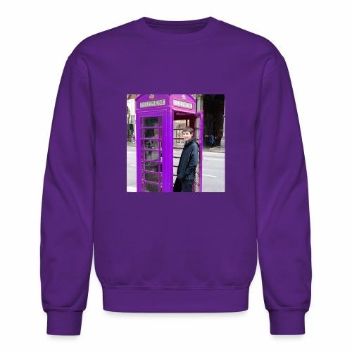 Sean in England Purple - Unisex Crewneck Sweatshirt