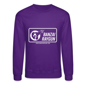 Banzai Raygun Rectangle Logo - Crewneck Sweatshirt