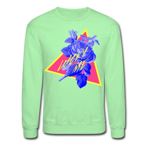 neon flower - Unisex Crewneck Sweatshirt