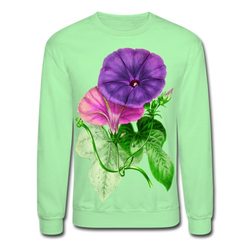 Vintage Mallow flower - Unisex Crewneck Sweatshirt