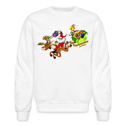 Santa's Gift Delivery with a Slingshot - Crewneck Sweatshirt