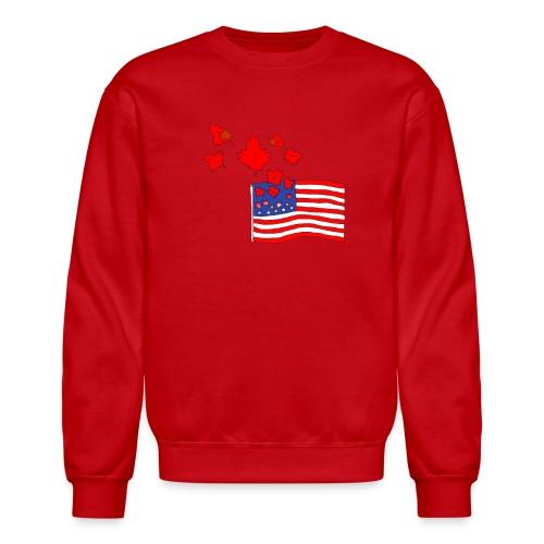 Camerican Flag - Unisex Crewneck Sweatshirt