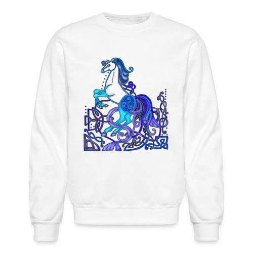 Celtic Horse Silver Blue - Unisex Crewneck Sweatshirt