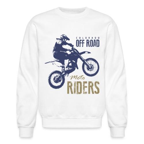 motorcycle off road rider biker - Unisex Crewneck Sweatshirt