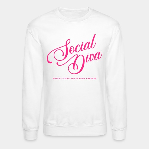 social fashion diva style - Unisex Crewneck Sweatshirt