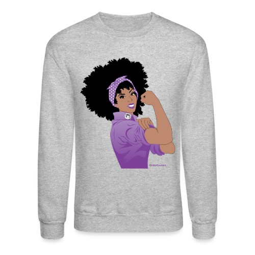 GlobalCouture WeCanDoItPurple Girl RGB png - Crewneck Sweatshirt