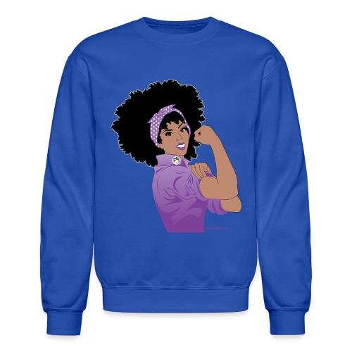 GlobalCouture WeCanDoItPurple Girl RGB png - Unisex Crewneck Sweatshirt