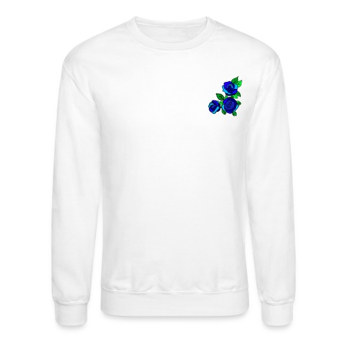 Simple blue Roses design - Crewneck Sweatshirt