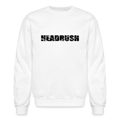 HeadRush Logo Black - Unisex Crewneck Sweatshirt