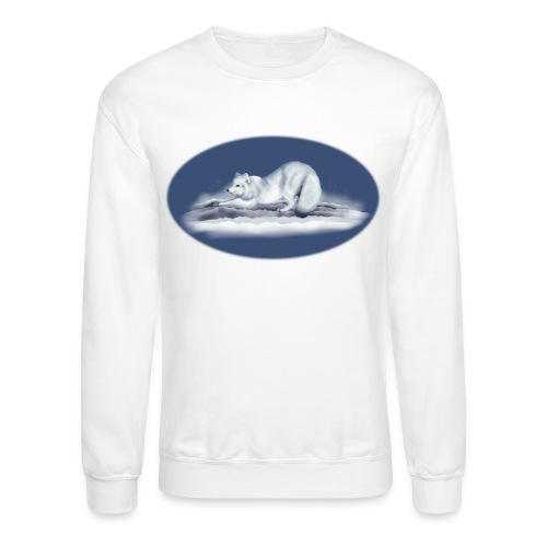 Arctic Fox on snow - Unisex Crewneck Sweatshirt