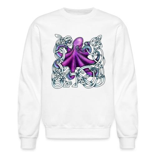 Celtic Octopus - Purple - Unisex Crewneck Sweatshirt