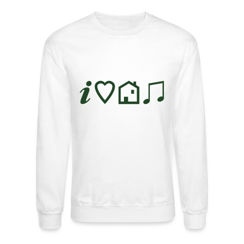 I Heart House Music - Symbolic Design 1 - Unisex Crewneck Sweatshirt