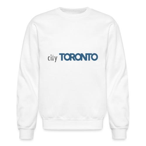 cityTorontoLogoNEW.png - Unisex Crewneck Sweatshirt