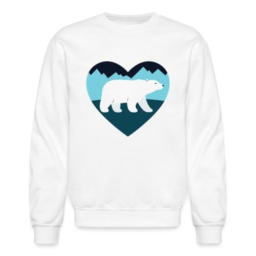 Polar Bear Love - Unisex Crewneck Sweatshirt