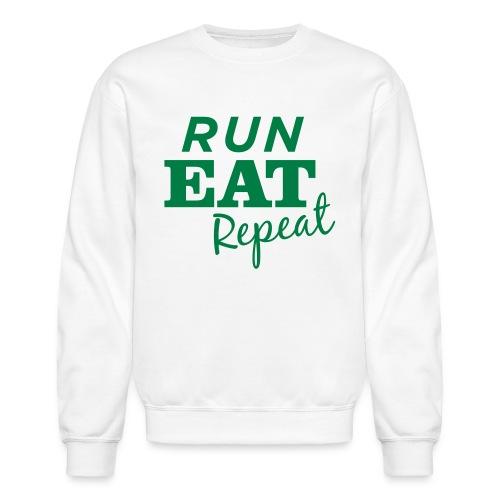 Run Eat Repeat buttons medium - Crewneck Sweatshirt