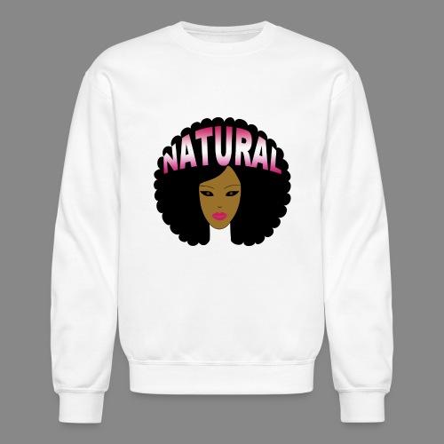 Natural Afro (Pink) - Crewneck Sweatshirt
