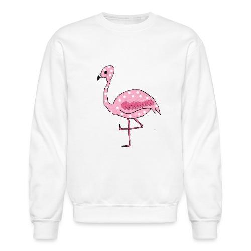 Polka Dotted Flamingo - Unisex Crewneck Sweatshirt
