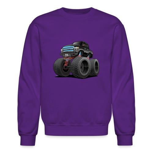 Monster Pickup Truck Cartoon - Crewneck Sweatshirt