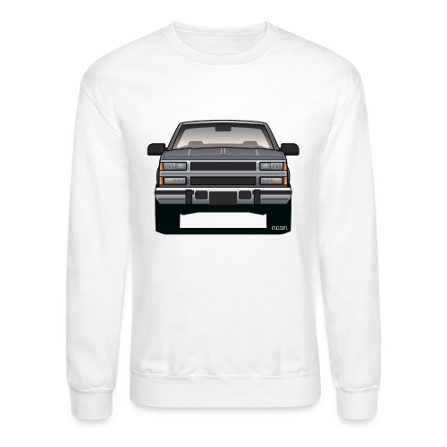 Design Icon: American Bowtie Silver Urban Truck - Unisex Crewneck Sweatshirt