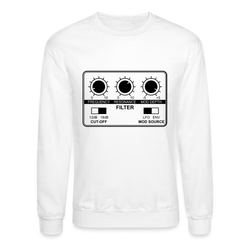 Synth Filter with Knobs - Unisex Crewneck Sweatshirt