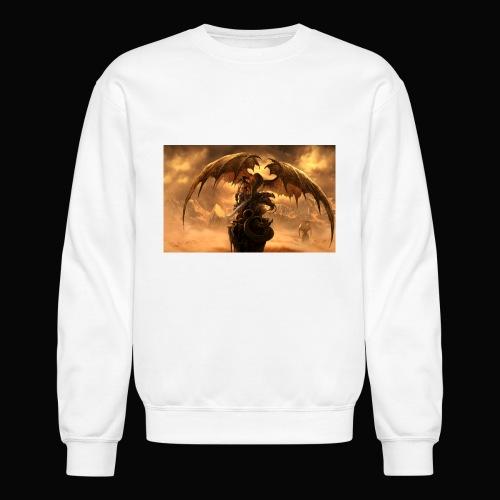 Dragon féroce - Unisex Crewneck Sweatshirt