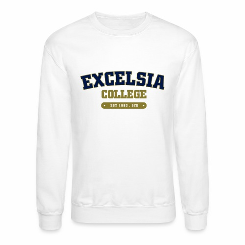 Merchandise logo artwork outlines blue - Crewneck Sweatshirt
