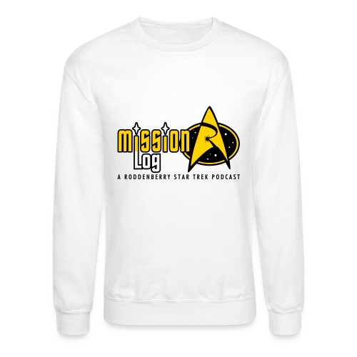 Logo Wide 2 Color Black Text - Unisex Crewneck Sweatshirt