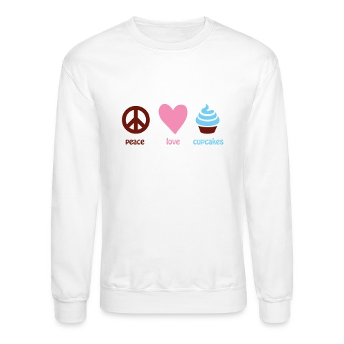 peacelovecupcakes pixel - Crewneck Sweatshirt