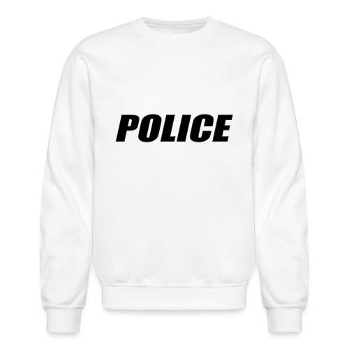 Police Black - Unisex Crewneck Sweatshirt