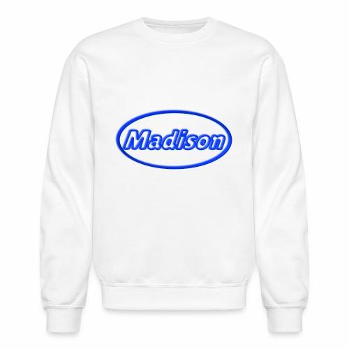 Madison in Neon Blue - Crewneck Sweatshirt