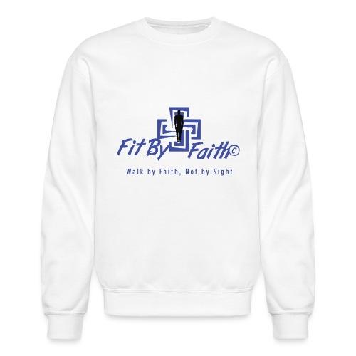 FitbyFaith back png - Unisex Crewneck Sweatshirt