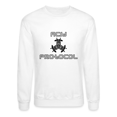 ACID PROTOCOL OFFICIAL LOGO BLACK - Crewneck Sweatshirt
