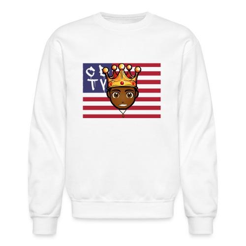cbtv flag logo - Crewneck Sweatshirt