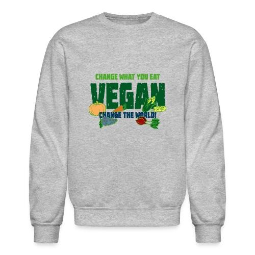 Change what you eat, change the world - Vegan - Crewneck Sweatshirt