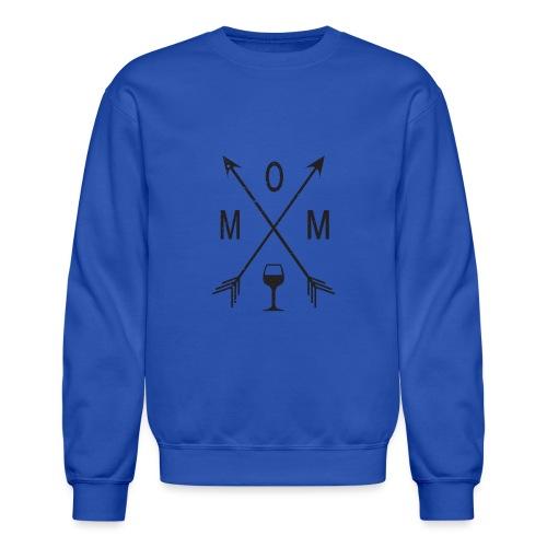 Mom Loves Wine (black ink) - Crewneck Sweatshirt