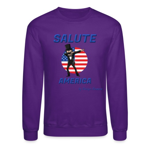 SALUTE AMERICA BLUE - Crewneck Sweatshirt