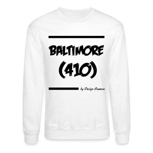 BALTIMORE 410 BLACK - Unisex Crewneck Sweatshirt