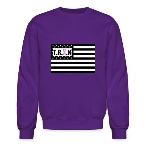 TRAN Logo Breast Cancer jpg - Crewneck Sweatshirt
