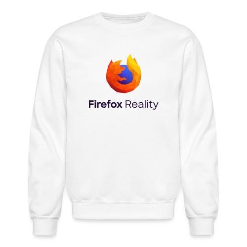 Firefox Reality - Transparent, Vertical, Dark Text - Unisex Crewneck Sweatshirt