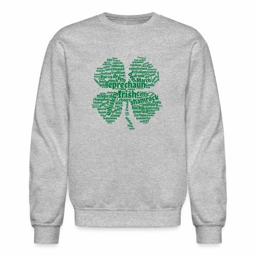 Shamrock Word Cloud - Crewneck Sweatshirt