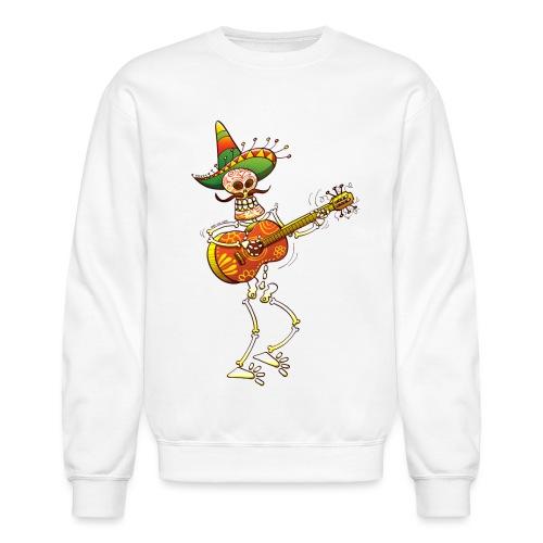 Mexican Skeleton Playing Guitar - Unisex Crewneck Sweatshirt