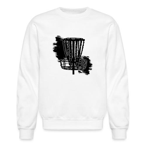 Disc Golf Basket Paint Black Print - Crewneck Sweatshirt
