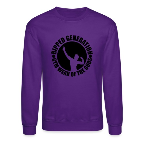 Ripped Generation Gym Wear of the Gods Badge Logo - Crewneck Sweatshirt